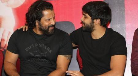 Dhruv Vikram on his father Chiyaan Vikram at Adithya Varma success meet