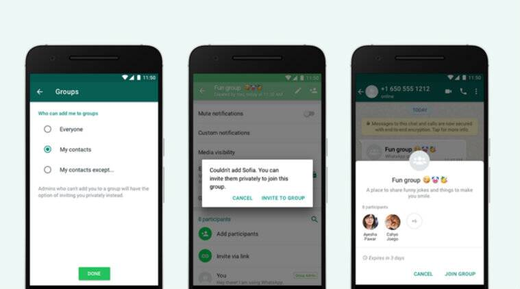 WhatsApp now lets users choose who can add them to groups