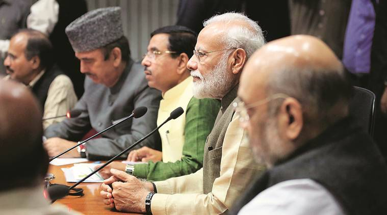 parliament winter session, Farooq abdullah, Farooq abdullah detention, all party-meet, narendra modi, Parliament winter session topics, indian express