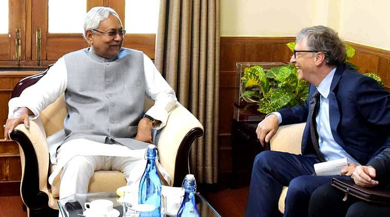 Bill Gates, Bill Gates on Bihar development, Bihar fighting poverty, Nitish Kumar, Bill Gates melinda gates foundation, indian express