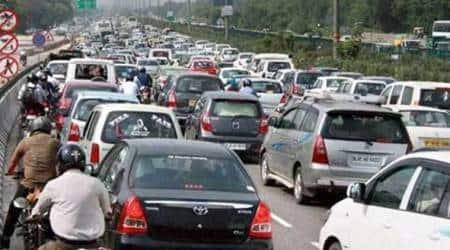 delhi traffic, delhi parking problem, delhi vehicular pollution, delhi, delhi news, indian express