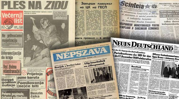 How the press in Eastern Europe reacted to the fall of the Berlin Wall