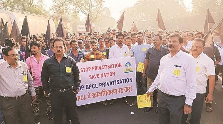 Bharat Petroleum Corporation Limited, BPCL, BPCL privatisation, Bharat Petroleum Corporation Limited protests, BPCL protests, Mumbai city news
