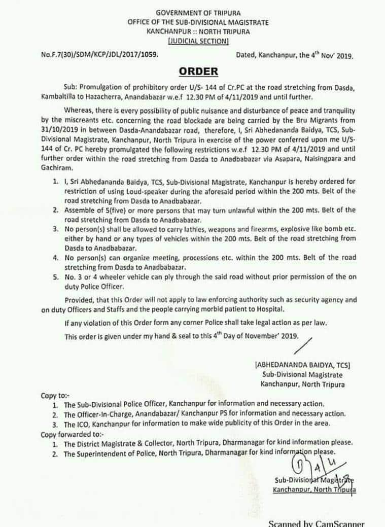 bru migrants, bru deadlock, casualties, govt of mizoram, tripura govt, food supplies in Bru relief camps, Tripura news, indian express