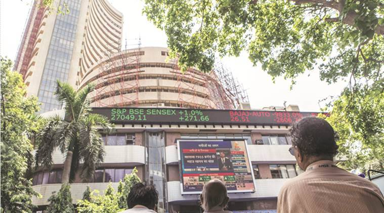 sensex jumps to fresh record high, nifty 50 reclaims 12000, bse sensex, nse nifty 50, indian stock market news, market news, business news, share market news, indian express news
