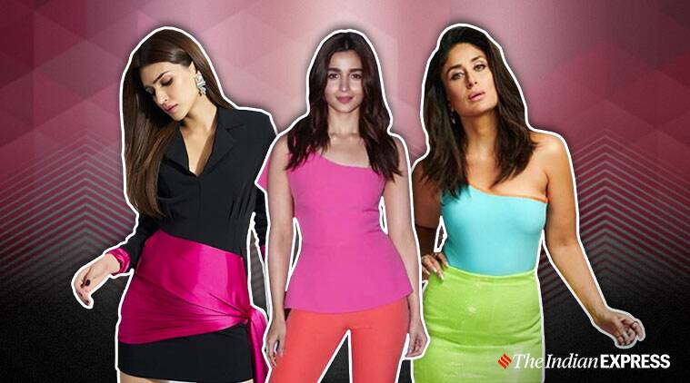 colour blocking, what is colour blocking, colour blocking fashion trend, celeb fashion, kareena kapoor latest photos, kriti sanon latest photos, indian express, lifestyle