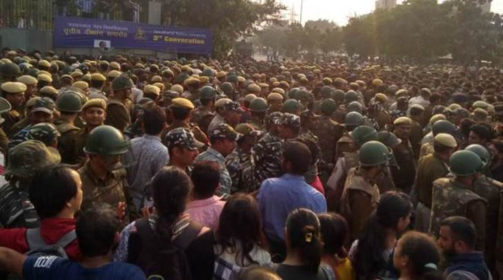 jnu students protest, jnu protests, jnu students clash with police