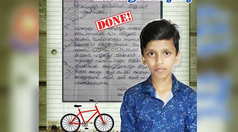 kerala police, boy police complaint cycle repair, kerala police intervene kid cycle repair, good news, india news, viral news, indian express