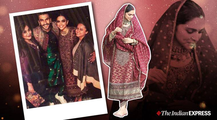 Deepika padukone picks a sabyasachi outfit from her wedding trousseau for her anniversary