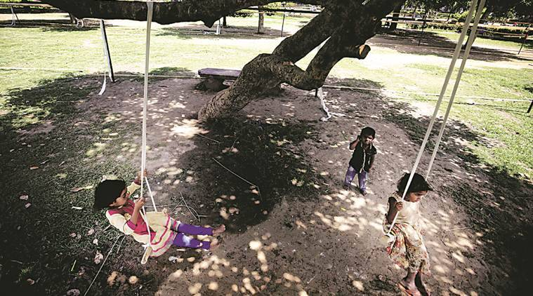 delhi city news, delhi parks, delhi recreation parks, delhi parks for children, indian express news