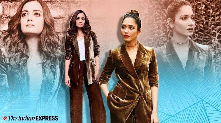 Dia Mirza or Tamannaah Bhatia: Who wore this velvet pantsuit better?