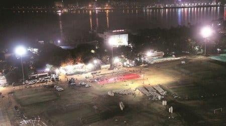 uddhav thackeray swearing in, shivaji park, shiv sena, maha vikas aghadi, maharashtra news, maharashtra cm, maharashtra govt formation, indian express