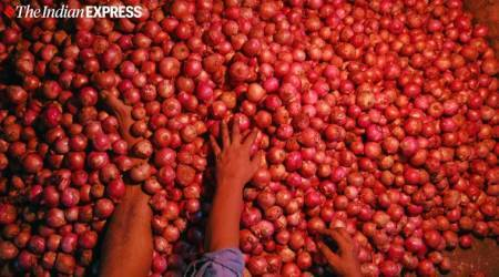 onion prices, Nashik onion market, I-T officials visit onion traders, onion prices in maharashtra, onion stock limit, indian express
