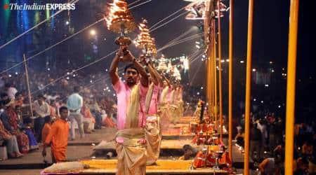 dev deepawali, dev deepawali varanasi, yamuna river, dev deepawali in varanasi, deepawali celebrations in varanasi, dev deepawali photos, india news, indian express