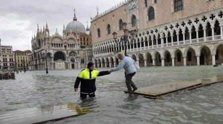 venice flood, venice water level rise, venice deluge, venice tide, world news, indian express