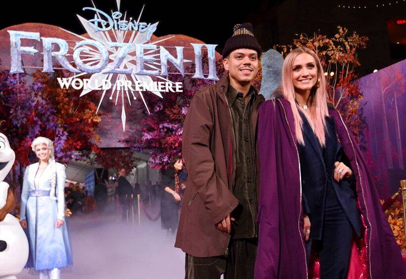 Evan Ross frozen 2 premiere
