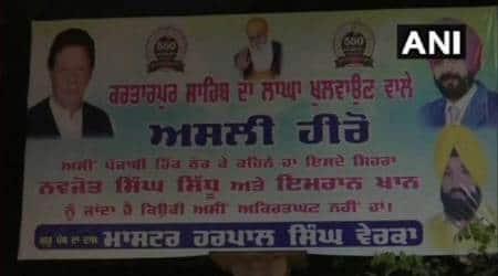 Banners hailing Sidhu, Imran Khan as 'real heroes' of Kartarpur project surfaces in Amritsar