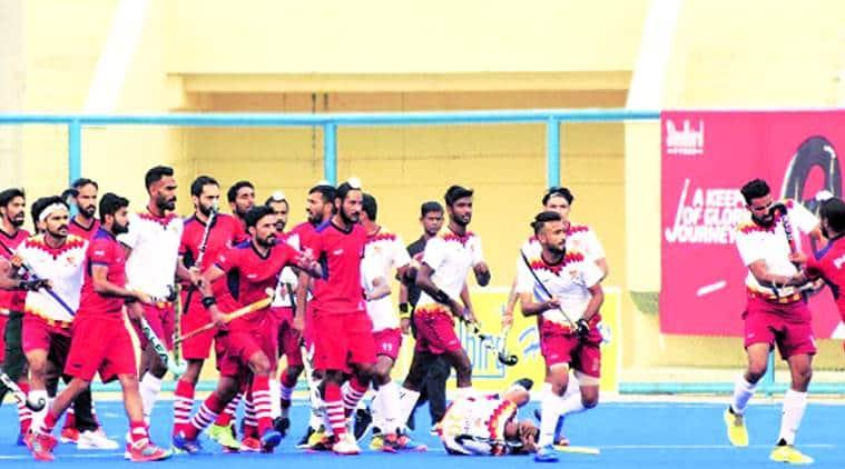 nehru hockey final brawl, hockey match brawl, 56th Nehru Senior Hockey Tournament, pnb vs punjab police hokcey match brawl, hockey india