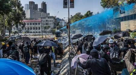 hong kong protests, hong kong violence, hong kong tension, carrie lam, hong kong crisis, hong kong news, world news, indian express
