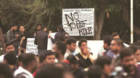 JNU protests, JNU fee hike, HRD Ministry, Jawaharlal Nehru University, JNU hostel fee hike, Ramesh Pokhriyal Nishank, Rajya Sabha