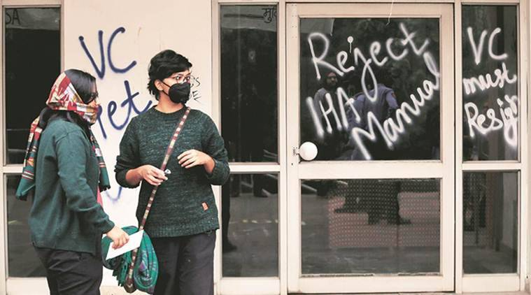 Considering action against students for vandalism: JNU