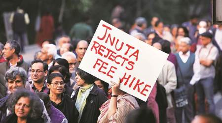 JNU, JNU protest, JNU fee hike, Jawaharlal Nehru University, HRD ministry, education news