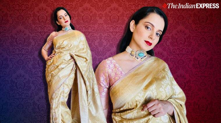 Kangana ranauts banarasi sari from kashi photo