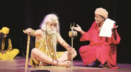 National Bhand Theatre, Gosain Pathar, jatra, Kashmir indigenous folk theatre form, National School of Drama, indianexpress, bhand theatre, kashmir theatre,
