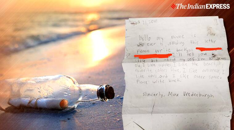 message in bottle, American boy bottle, Massachusetts, US, viral story, bottle message,