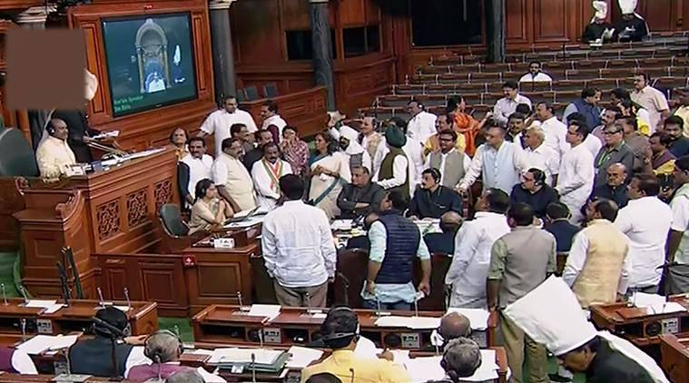 Opposition protests adjournment government reaches out to congress