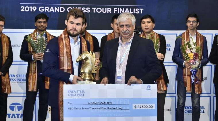 Magnus carlsen wins tata steel chess india rapid and blitz 2019