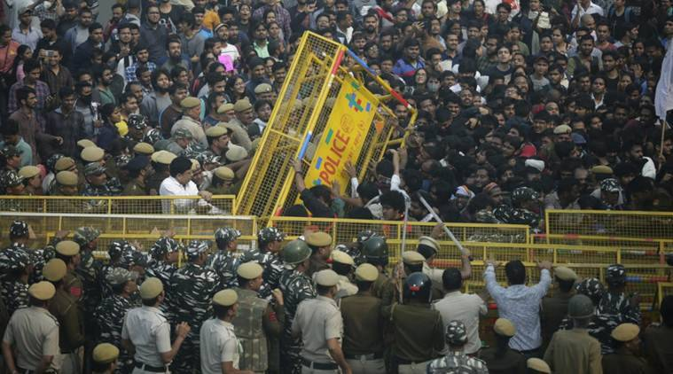 JNU protests LIVE updates: Police use water cannon to disperse students