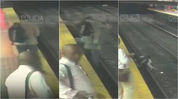 Man distracted by phone falls onto train tracks in Argentina