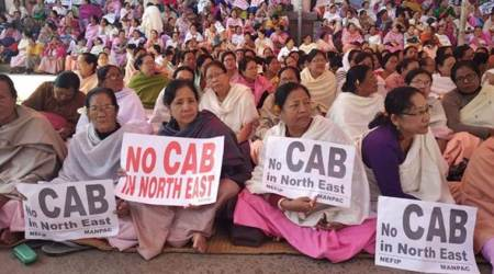 Citizenship Amendment Bill, Citizenship Amendment Bill protests, CAB protests, Manipur CAB protests, CAB in Lok Sabha, Citizenship Amendment Bill in Lok Sabha, Lok Sabha, Amit Shah, Amit Shah on Citizenship Amendment Bill, Manipur news, northeast news, Indian Express