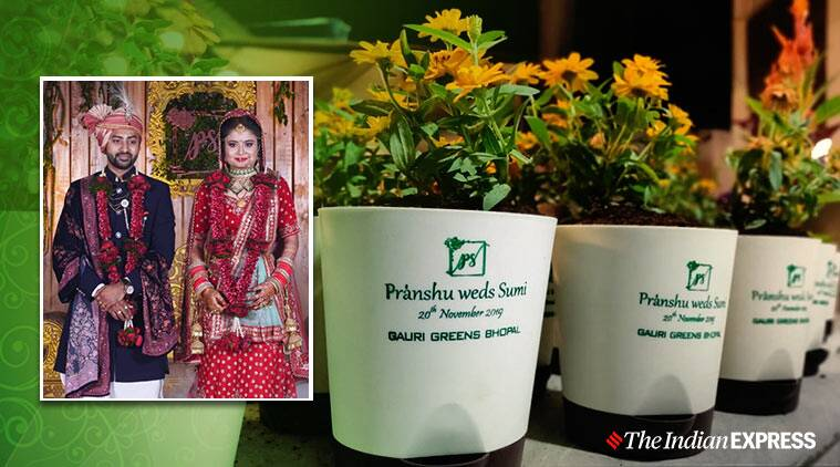 green initiative, Eco friendly wedding, sustainable wedding, indian weddings, weddings, Bhopal, potted invites, green wedding