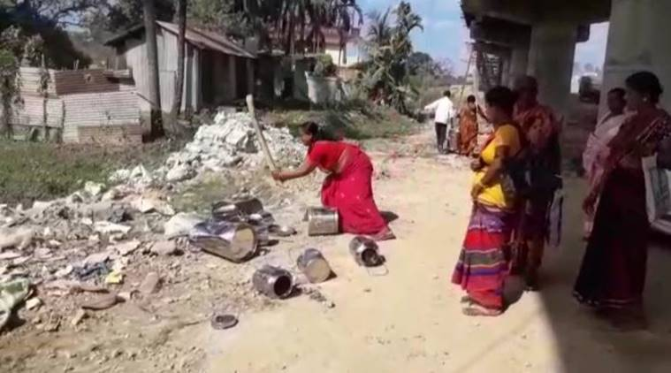 midday meals in assam, midday meals served by private NGOs in assam, midday meal workers protest in assam, indian express, latest news