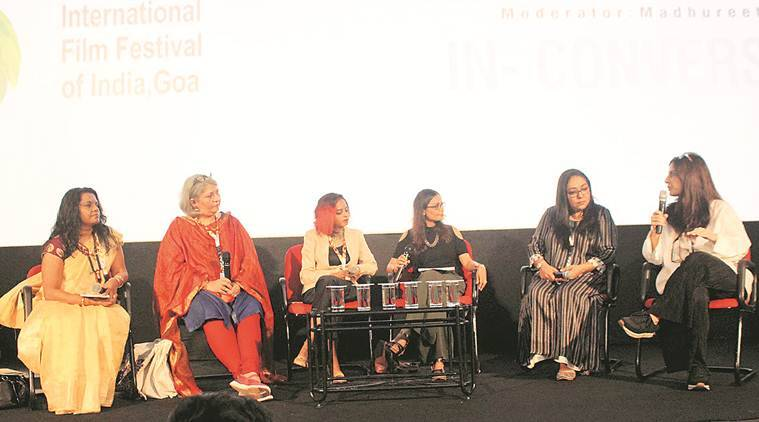 iffi goa, iffi goa 2019, Meghna Gulzar, Juhi Chaturvedi, raazi, piku, october movie, talvar, indian express news