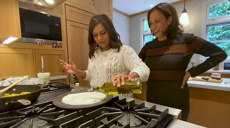 Presidential Hopeful Kamala Harris Joins Mindy Kaling To Cook Masala Dosa In This Viral Video Trending News The Indian Express