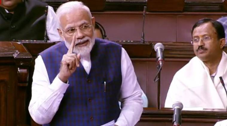 Narendra Modi, Modi speech, rajya sabha speech, Modi rajya sabha speech, Modi in parliament, parliament winter session, indian express