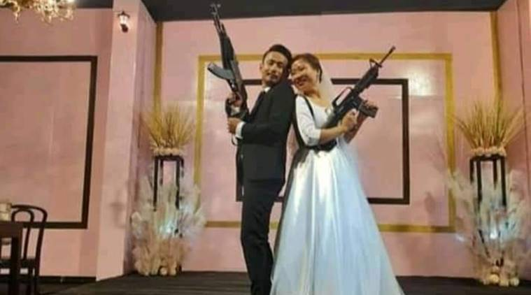Nagaland Home Minister's son, his wife land in trouble for brandishing firearms at wedding