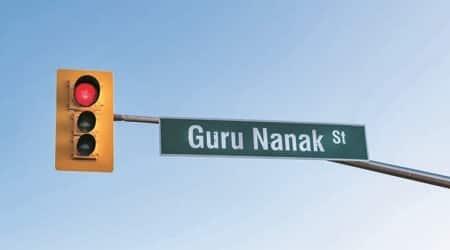 guru nanak 550th birth anniversary, canada street, guru nanak street in canada, Brampton city of Canada, indian express