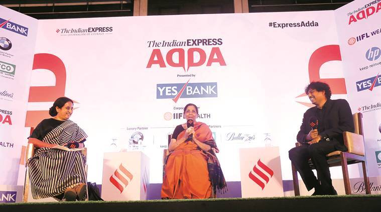 Express Adda with Nirmala Sitharaman: 'Difficulty is not in taking a call on reforms, it's in moving forward'