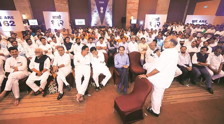 maharashtra government, maharashtra news, congress shiv sena ncp show of strength, sharad pawar, ajit pawar, maharashtra political news