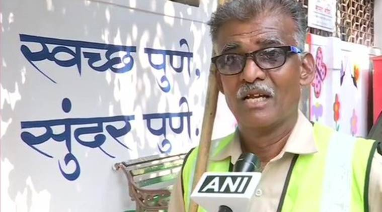 pune sanitation worker song, pmc worker songs videos, pune plastic ban, maharashtra plastic ban, waste management, dry wet waste segregation, pune news, latest news, indian express