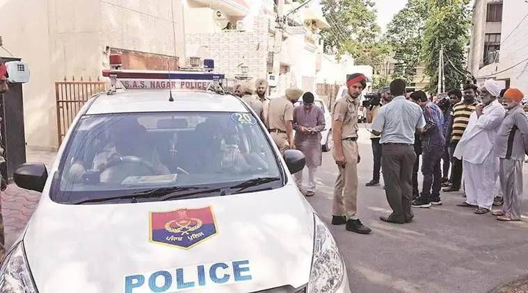 punjab police, four robbers fire at policeman, panchkula, chandigarh news, indian express news,
