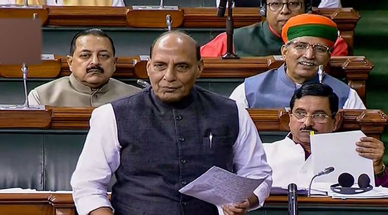 rajnath singh pragya thakur, nathuram gose, parliament, lok sabha, india news, indian express