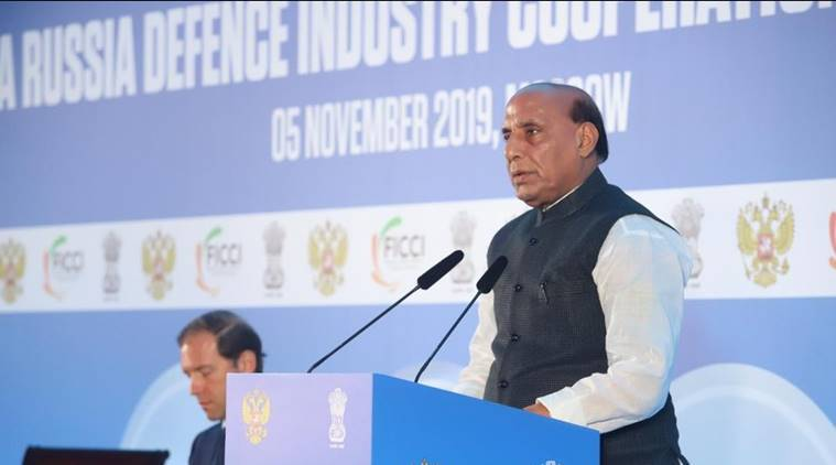 In Moscow, Rajnath Singh invites Russian companies to manufacture in India