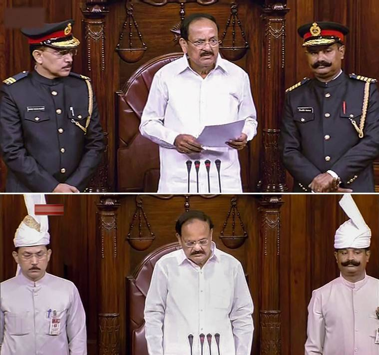 Uniform of Rajya Sabha marshals will be reviewed, says Chairman Venkaiah Naidu