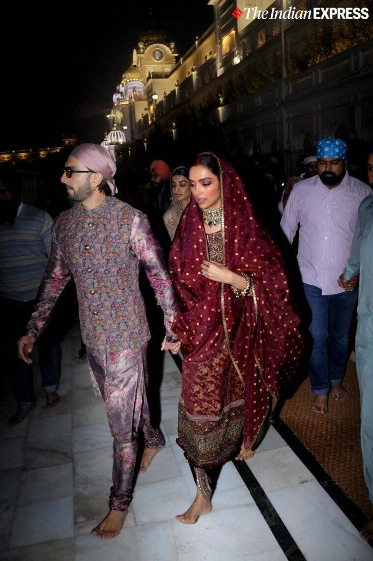 deepika ranveer golden temple photos