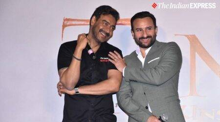 saif ali khan, ajay devgn at tanhaji trailer launch